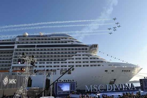Inauguracion MSC Divina