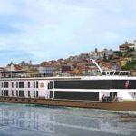 Sharon Stone inaugura el barco fluvial AmaVida