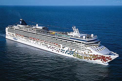 Aerial Norwegian Jewel Norwegian Cruise Line