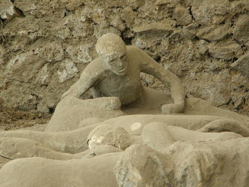 Restos humanos en Pompeya