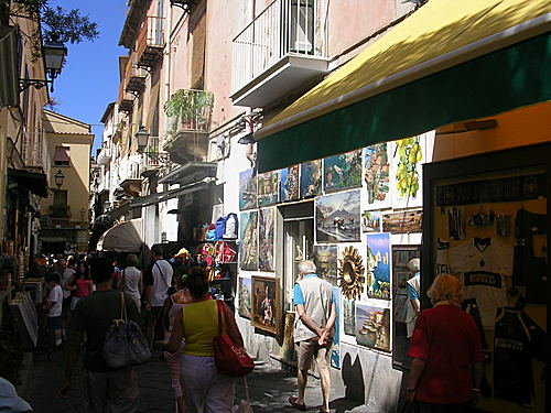 Via San Cesareo en Sorrento