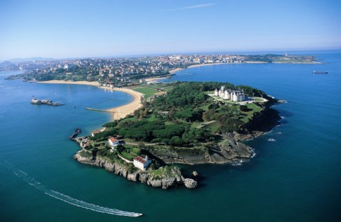 Imagen aérea de Santander