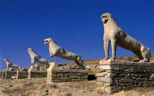 Los leones de Delos