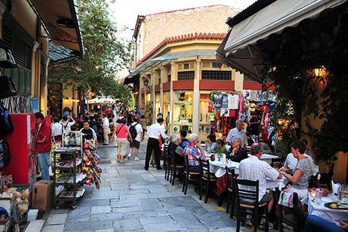 Barrio de La Plaka. Atenas