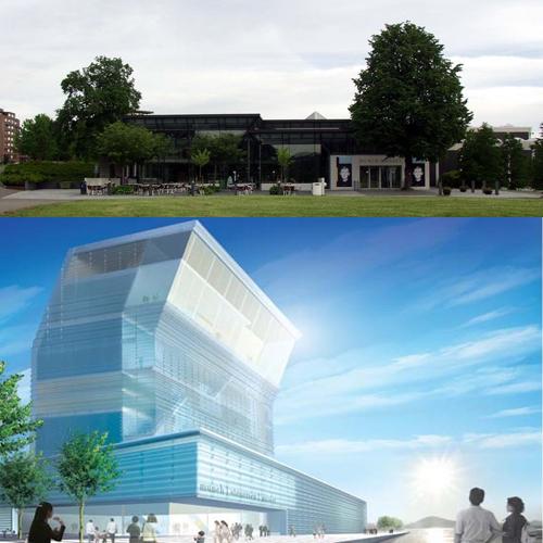 Museo Munch. Abajo proyecto del nuevo museo Munch