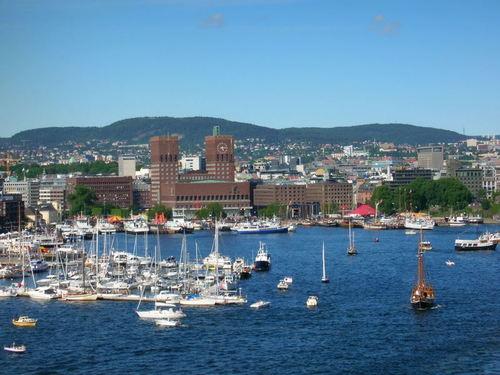 El puerto de Oslo, en Noruega