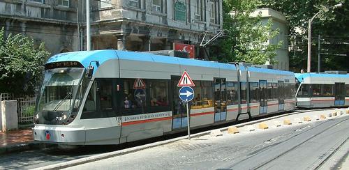 Tranvia en Estambul